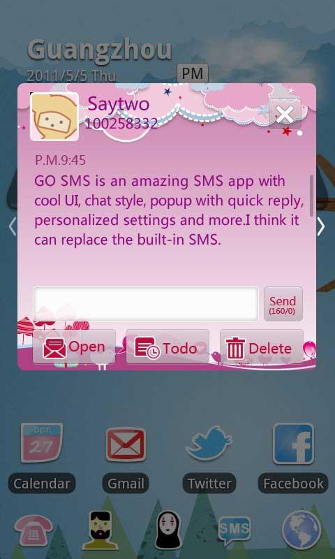 GO SMS Pro Bird Lover Theme 2