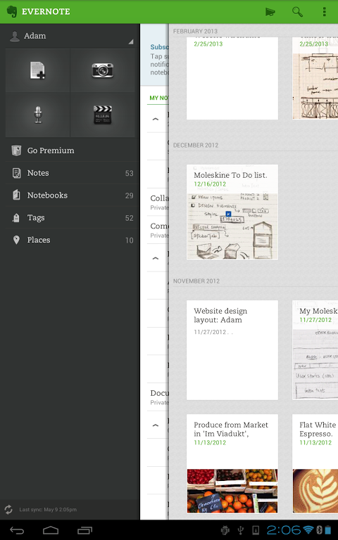 Evernote para Android 1