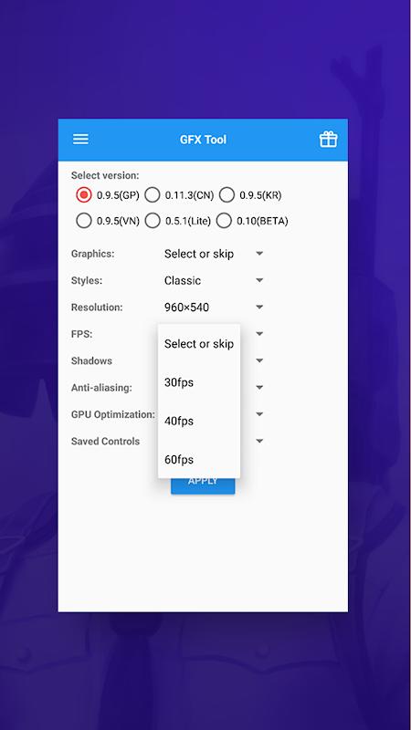 GFX Tool para PUBG 3