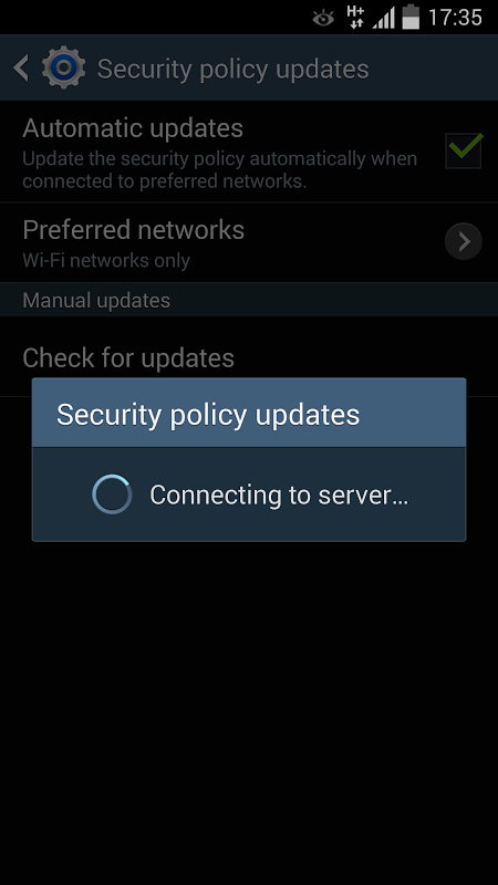 SECURITY POLICY UPDATES 3