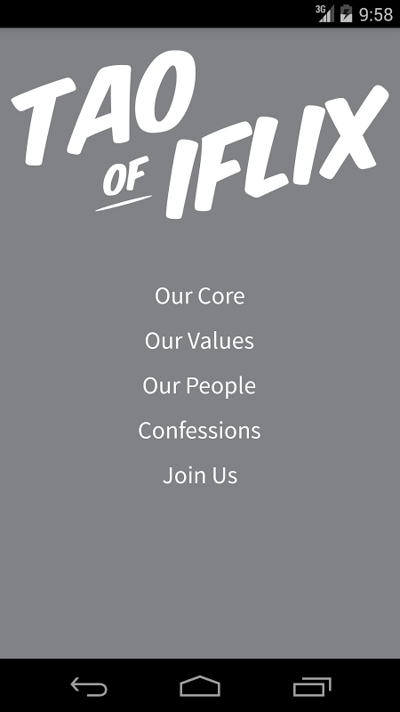 Tao of iflix 1
