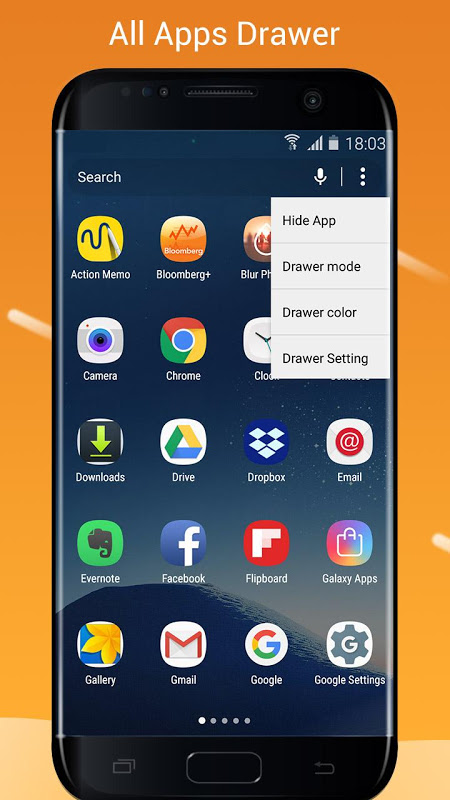 S7/S8 Launcher para Galaxy S/A/J/C, theme icon pack 2