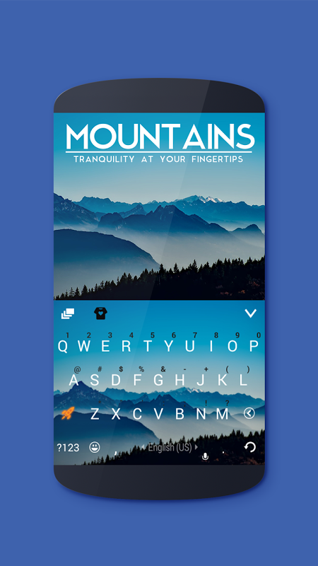 Mountains Keyboard Theme 4