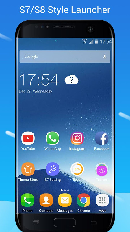 S7/S8 Launcher para Galaxy S/A/J/C, theme icon pack 1