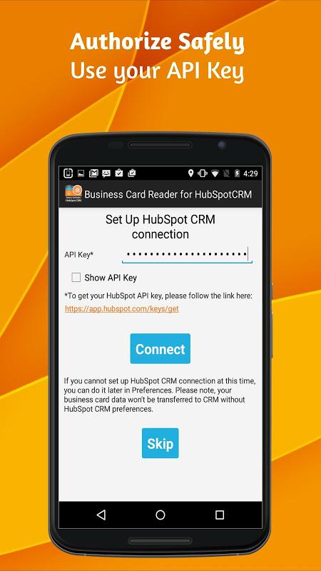 Business Card Reader para HubSpot CRM 2