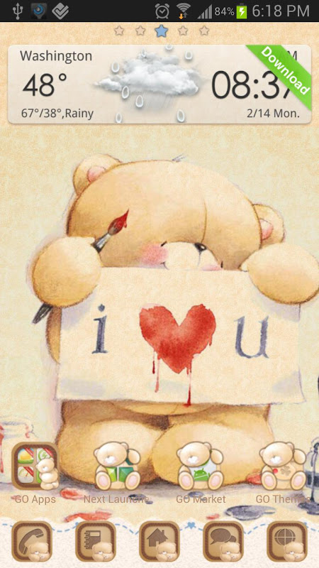 Bears in Love Go Launcher 1