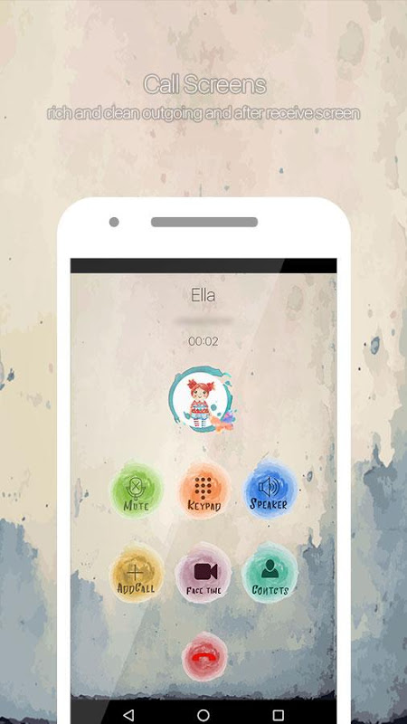 Water Color Call Dialer 2