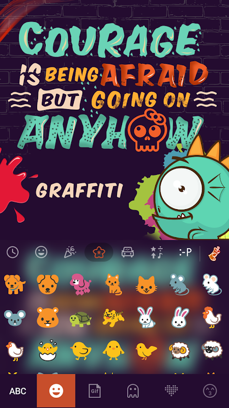 Graffiti Kika Keyboard Theme 4