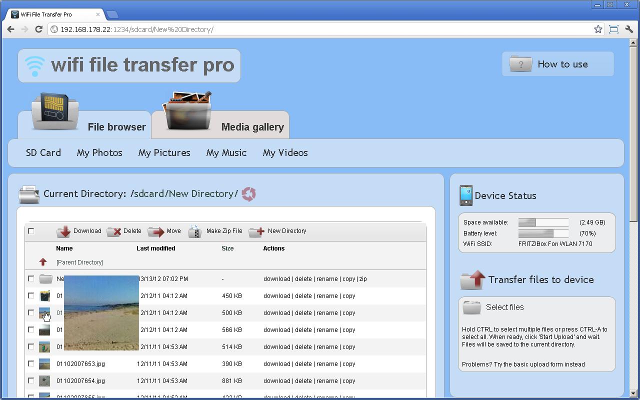 WiFi File Transfer Pro 1