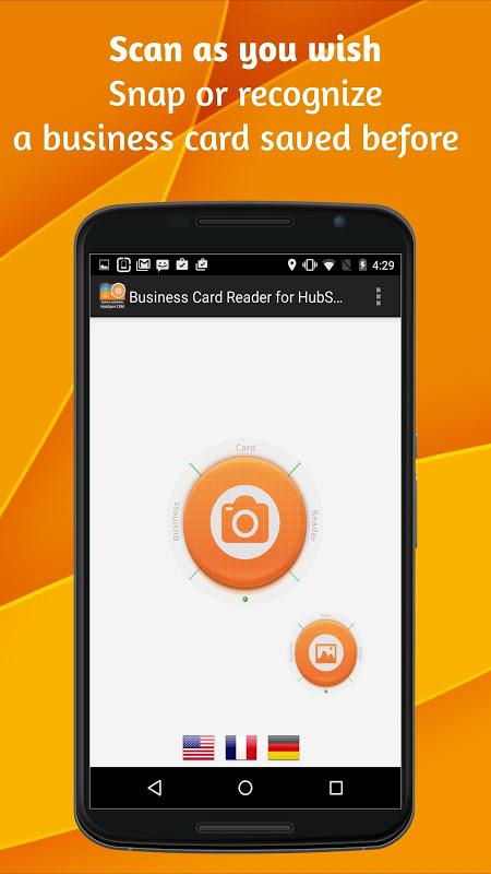 Business Card Reader para HubSpot CRM 4