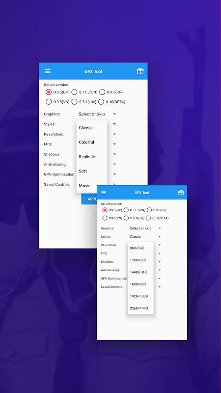 GFX Tool para PUBG 2