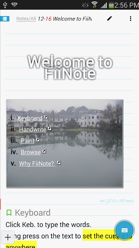 FiiNote, note everything 1
