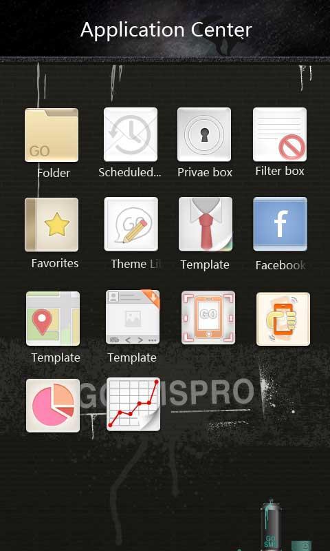 GO SMS Pro Thief Theme 3