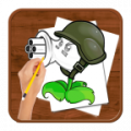 Como dibujar :Plants vs Zombies
