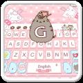 Lovely Cute Pink Cat Keyboard