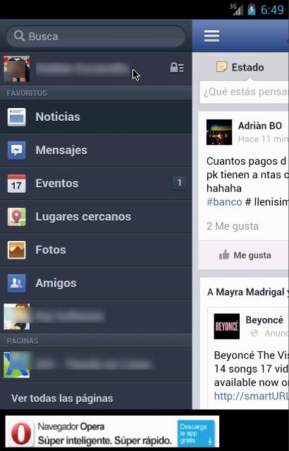 Lite WebApp para FaceBook 3