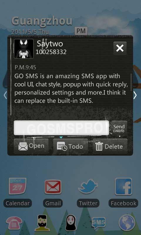 GO SMS Pro Thief Theme 2