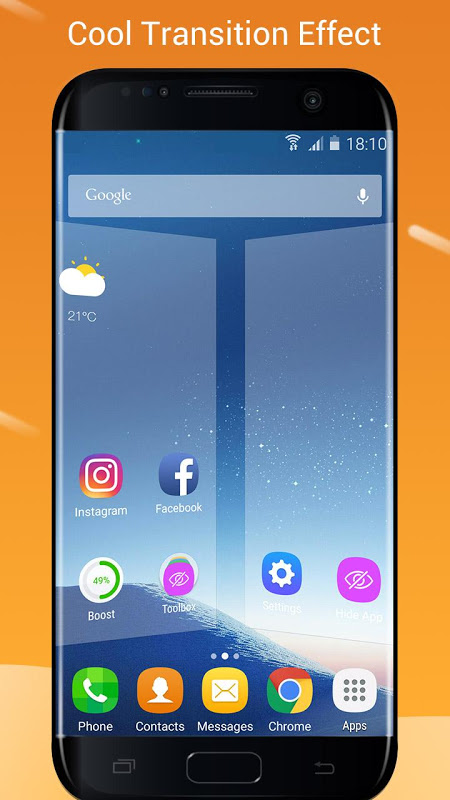 S7/S8 Launcher para Galaxy S/A/J/C, theme icon pack 4