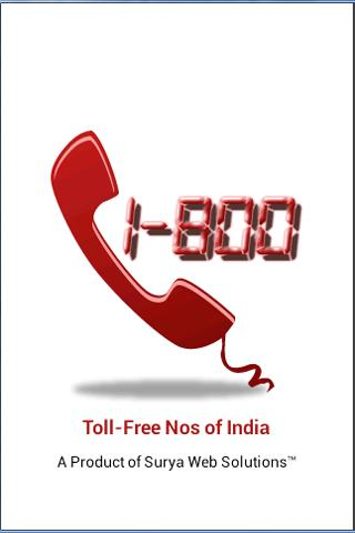 Toll Free Nos of India 1