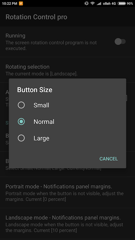 Screen rotation control pro 3