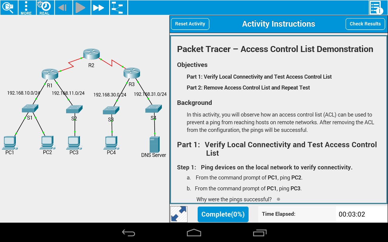 Cisco Packet Tracer Mobile 1