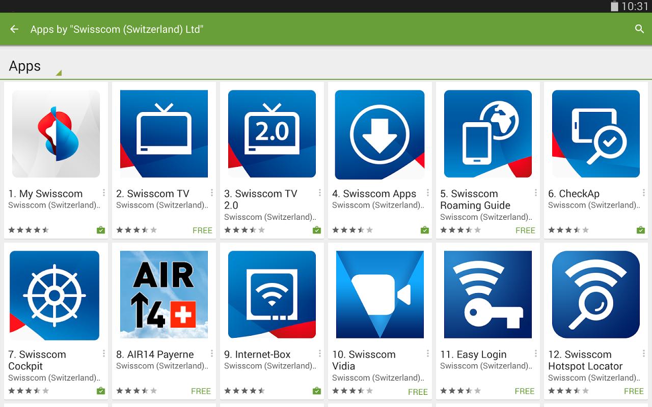 Swisscom Apps 1
