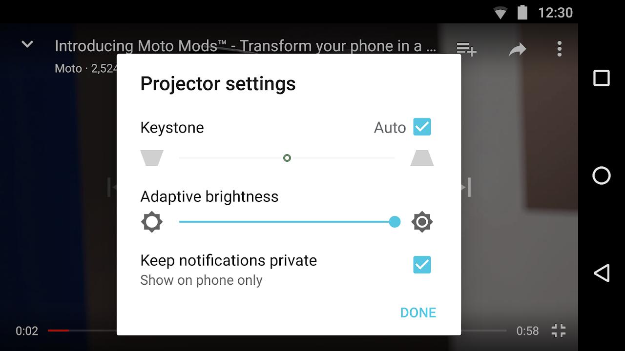 Moto Mods Projector 4