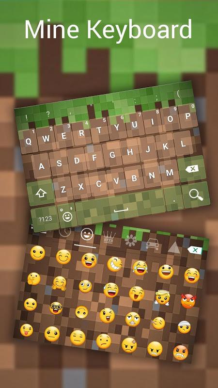 MineCam Keyboard para Minecraft Fans 1