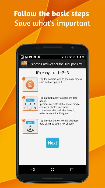 Business Card Reader para HubSpot CRM 1