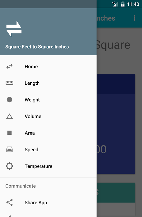 Square Feet to Square Inches 4