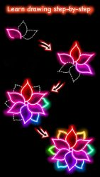 Draw Glow Flower 1