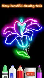 Draw Glow Flower 4