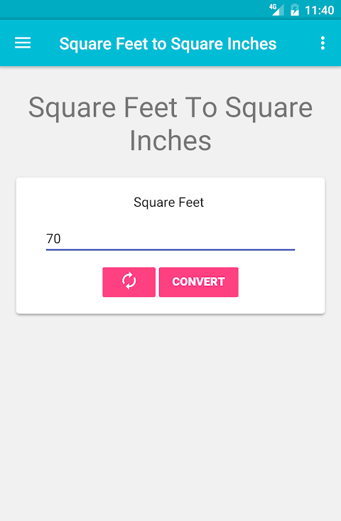 Square Feet to Square Inches 1