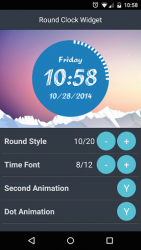 Round Clock Widget 4